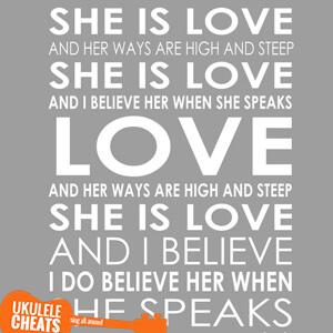 She Is Love Ukulele Chords